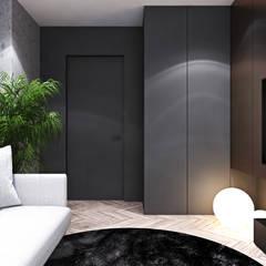 Apartament w Londynie - strefa nocna: styl , w kategorii Pokój multimedialny zaprojektowany przez Ambience. Interior Design