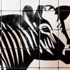 Mural pintado a mano para el Hotel Riu Costa del Sol ****: Hoteles de estilo  de Artelux