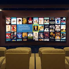 Cinema Room in Dubai:  Media room by Custom Controls