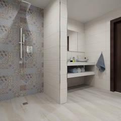 BATHROOM 3D DESIGNS: modern Bathroom by Porcelanosa