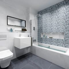BATHROOM 3D DESIGNS: modern Bathroom by Porcelanosa