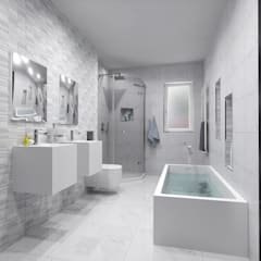 BATHROOM 3D DESIGNS:  Bathroom by Porcelanosa