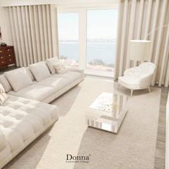 Remodelação de Sala e Quarto: Salas de estar  por Donna - Exclusividade e Design,Moderno
