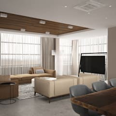 Salas de entretenimiento de estilo industrial por Style Home