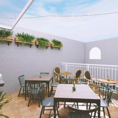 Restaurantes de estilo  por Asta Karya Studio