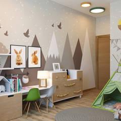 غرفة الاطفال تنفيذ Дизайн Студия 33