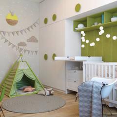 modern Nursery/kid's room by Дизайн Студия 33