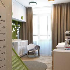 Проект 3-х комнатной квартиры: Детские комнаты в . Автор – Дизайн Студия 33