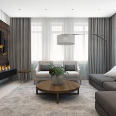 """Дизайн-проект таунхауса в КП """"Кембридж"""": Гостиная в . Автор – Style Home, Минимализм"""