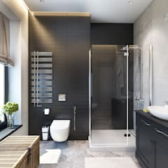 Дизайн-проект загородного дома в пос. Рождествено: Ванные комнаты в . Автор – Style Home