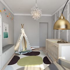 minimalistic Nursery/kid's room by Style Home