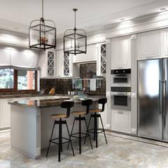 Дизайн-проект загородного дома из бруса: Кухни в . Автор – Style Home
