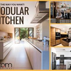 Modular Kitchens:  Kitchen units by Atom Interiors