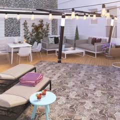 Exterior Chill Out: Terrazas de estilo  de Glancing Eye - Diseños 3D