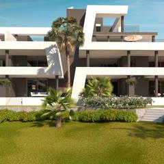 Casas multifamiliares de estilo  por G&J ARQUITECTURA