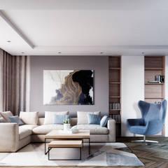 Дизайн-проект загородного дома: Гостиная в . Автор – Style Home