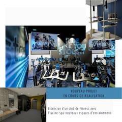 CLUB DE FITNESS Dpt 64 : Locaux commerciaux & Magasins de style  par VALERIE BARTHE AiC