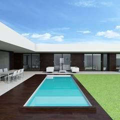 Projekty,  Basen do ogrodu zaprojektowane przez DMDV Arquitectos