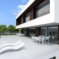 Vivienda PASSIVHAUS Puerta de Hierro. Casa Puerta de Hierro. Terraza y piscina.: Casas unifamilares de estilo  de DMDV Arquitectos