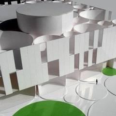 Centro Cultural y Auditorio. Badajoz: Paredes de estilo  de DMDV Arquitectos