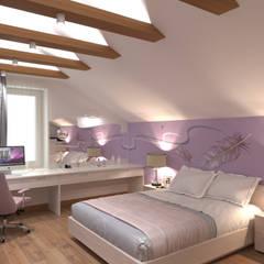 Две комнаты на мансарде: Спальни в . Автор – СТУДИЯ ДИЗАЙНА ЭЛИТНЫХ ИНТЕРЬЕРОВ АЛЕКСАНДРА ЕЛАШИНА.