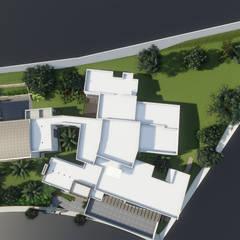 Projekty,  Dach płaski zaprojektowane przez Tierra Fría