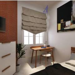 The Kinder House - Pejaten, Jakarta Selatan (Bedroom):  Kamar Tidur by Asta Karya Studio