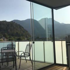 Schiebetüren für Terrassen mit ESG-H 10 mm Sicherheitsglas:  Wintergarten von Schmidinger Wintergärten, Fenster & Verglasungen