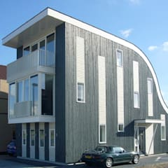 Villa voor Trompettist: exterieur:  Villa door Arc2 architecten