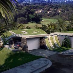 VIVIENDA UNIFAMILIAR EN LA CERQUILLA: Villas de estilo  de G&J ARQUITECTURA