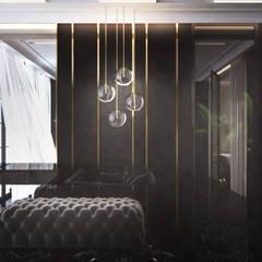 Luksusowa sypialnia z łazienką: styl , w kategorii Sypialnia zaprojektowany przez Ambience. Interior Design