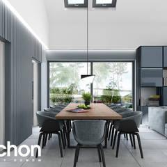 Dom w kliwiach 4 (G2) : styl , w kategorii Jadalnia zaprojektowany przez ARCHON+ PROJEKTY DOMÓW