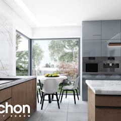 Dom w kliwiach 4 (G2): styl , w kategorii Aneks kuchenny zaprojektowany przez ARCHON+ PROJEKTY DOMÓW