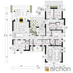 Dom w kliwiach 4 (G2): styl , w kategorii Dom jednorodzinny zaprojektowany przez ARCHON+ PROJEKTY DOMÓW