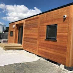 The Garden Room Guide Article - Outside Staff Room:  Wooden houses by Building With Frames