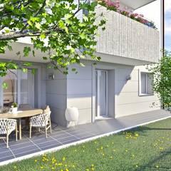 Esterno piano terra con giardino: Giardino anteriore in stile  di Gentile Architetto