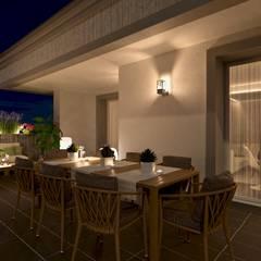 Terrazza piano attivo - versione notturna: Terrazza in stile  di Gentile Architetto