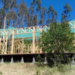 Casa ecológica en el sur de Chile : Ventanas de estilo  por Baam Arquitectura