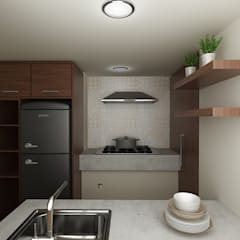 Casa Bosques de la Herradura: Cocinas equipadas de estilo  por Soma & Croma