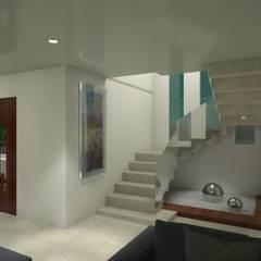 Residencia Marquesa Animas Xalapa Veracruz: Pasillos y recibidores de estilo  por CouturierStudio
