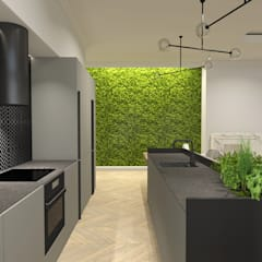 Built-in kitchens by IN studio projektowania wnętrz,