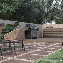 Архитектурный проект загородного дома и ландшафтный дизайн земельного участка: Tерраса в . Автор – Suiten7