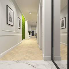 Apartament, Warszawa: styl , w kategorii Korytarz, przedpokój zaprojektowany przez IN studio projektowania wnętrz