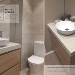 WC: Casas de banho  por Nora Atelier