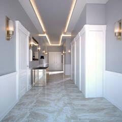 50GR Mimarlık – Toskana_villa:  tarz Koridor ve Hol