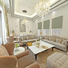 50GR Mimarlık – Toskana_villa: klasik tarz tarz Oturma Odası