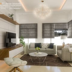 Living Area Interior Perspective: asian Living room by CB.Arch Design Solutions