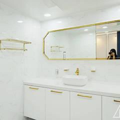 골드 컨셉, 인천 만수동 상가주택 인테리어: 디자인 아버의  욕실