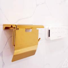 골드 컨셉, 인천 만수동 상가주택 인테리어 에클레틱 욕실 by 디자인 아버 에클레틱 (Eclectic)