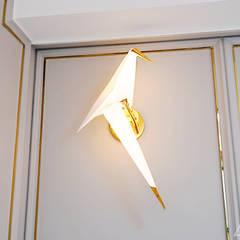 골드 컨셉, 인천 만수동 상가주택 인테리어: 디자인 아버의  침실
